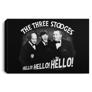 Three Stooges Hello Hello Hello Landscape Canvas .75In Frame