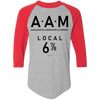 Three Stooges AAM Raglan 3/4 Sleeve T-Shirt