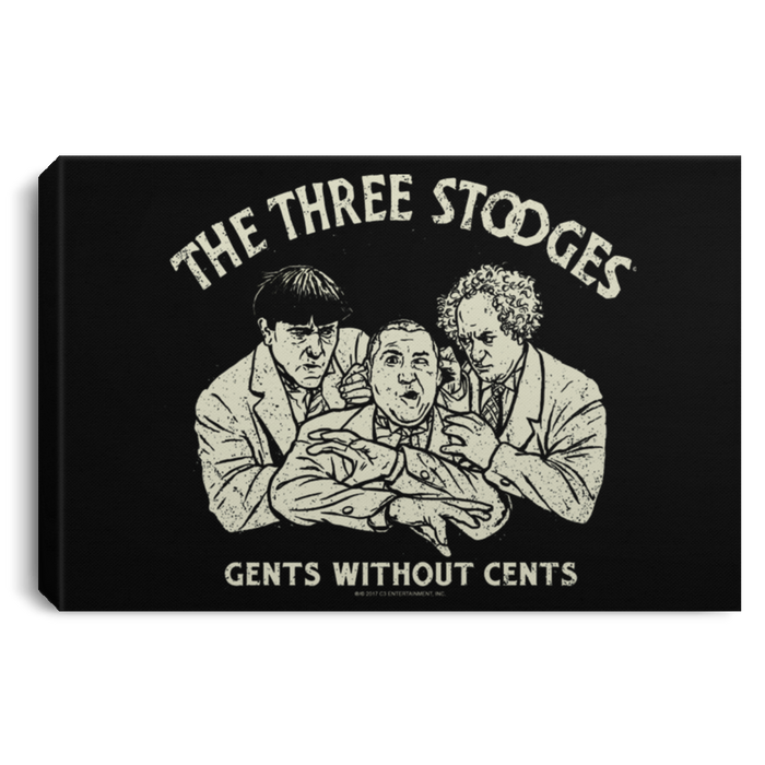 Three Stooges Gents Without Cents Landscape Canvas .75In Frame