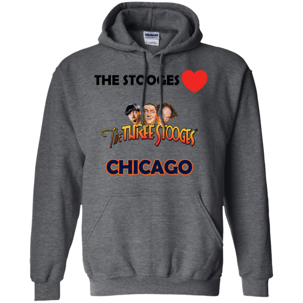 Three Stooges Love Chicago Pullover Hoodie - Free Shipping