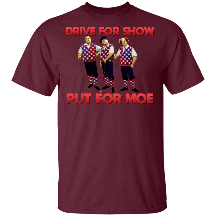 Three Stooges Putt For Moe Golf T-Shirt