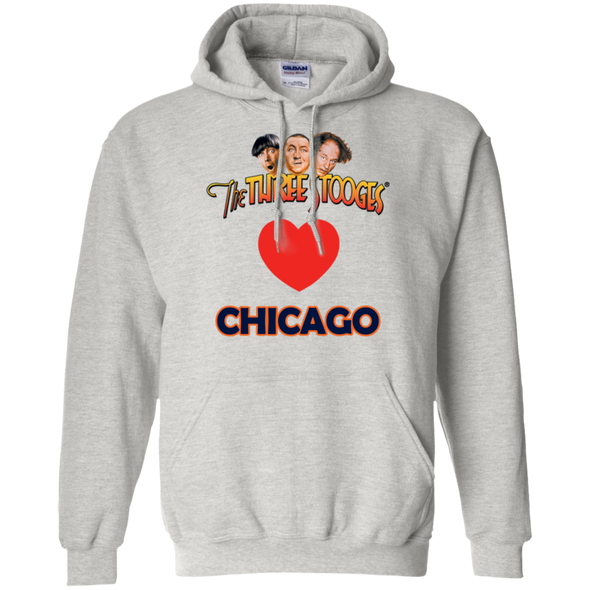 Three Stooges Love Chicago Heart Hoodie - FREE SHIPPING