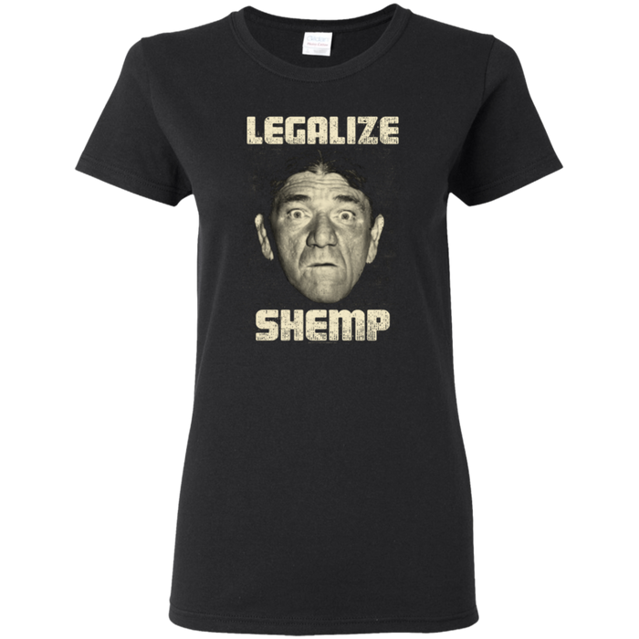 Three Stooges Legalize Shemp Ladies T-Shirt
