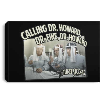Three Stooges Doctors Landscape Canvas .75In Frame