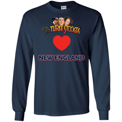 Three Stooges Love New England Long Sleeve Heart Shirt