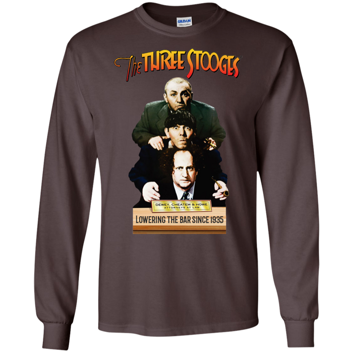 Three Stooges Dewey, Cheatem, & Howe Long Sleeve T-Shirt