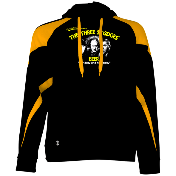 Three Stooges Beer Colorblock Hoodie - FREE SHIPPING
