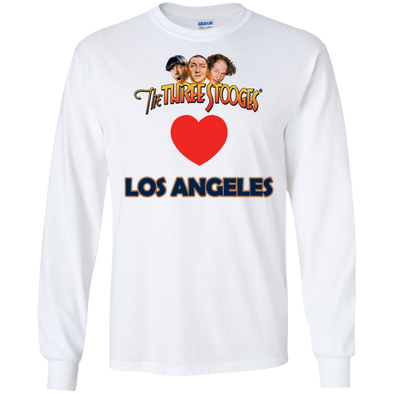 Three Stooges Love Los Angeles Long Sleeve Heart Shirt