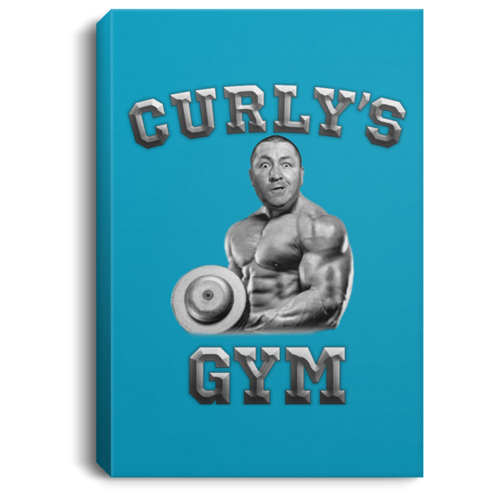 Three Stooge Curly'S Gym Portrait Canvas .75In Frame