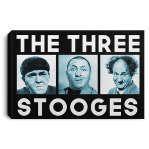 Three Stooges Squares Landscape Canvas .75In Frame