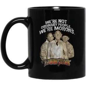Three Stooges 11 oz. Black Mug - Morons