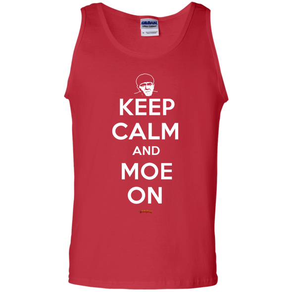 Three Stooges Keep Calm And Moe On Tank Top