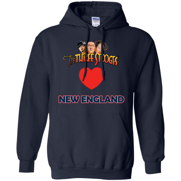 Three Stooges Love New England Heart Hoodie - FREE SHIPPING