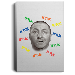 Three Stooges Nyuk Nyuk Nyuk Portrait Canvas .75in Frame