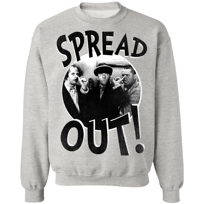 Three Stooges Spread Out Crewneck Pullover Sweatshirt
