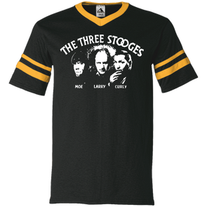 Three Stooges V-Neck Sleeve Stripe Jersey
