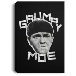 Three Stooges Grumpy Moe Portrait Canvas .75in Frame