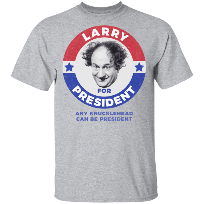 Three Stooges Larry For President T-Shirt