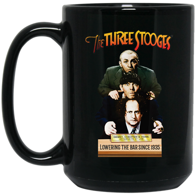 Three Stooges Dewey, Cheatem, & Howe 15 oz. Large Black Mug - FREE SHIPPING