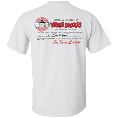 Three Stooges Fan Club Front And Back T-shirt