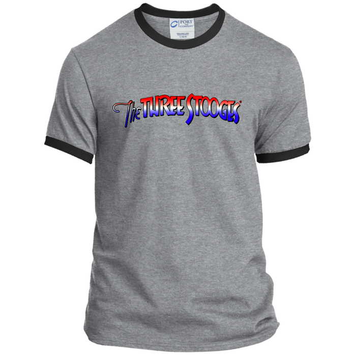 Three Stooges® Ringer Tee-Logo T Shirt