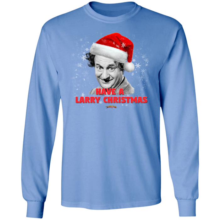 Three Stooges Have A Larry Christmas Long Sleeve T-Shirt