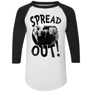 Three Stooges Spread Out 3/4 Sleeve Raglan T-Shirt