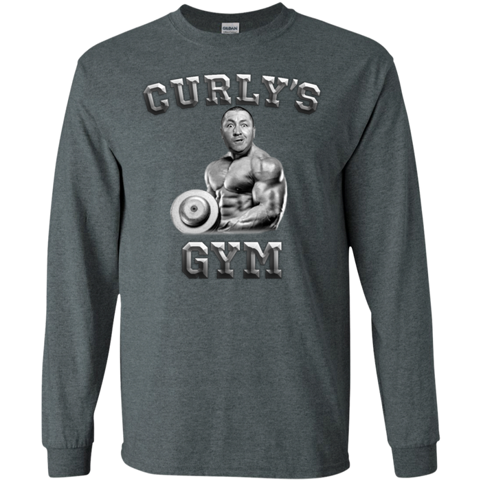 Three Stooges Curly'S Gym Long Sleeve T-Shirt