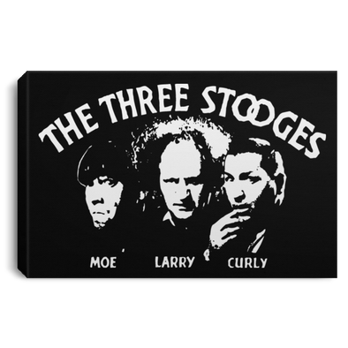 Three Stooges Opening Credits Landscape Canvas .75in Frame
