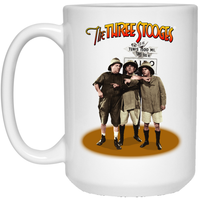 Three Stooges Large 15 .Oz Safari Mug