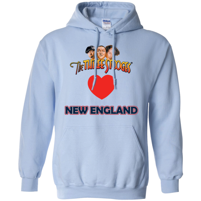 Three Stooges Love New England Heart Hoodie