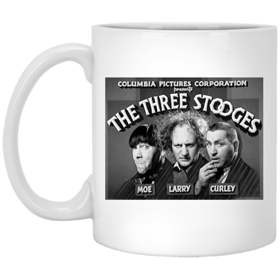 Three Stooges Classic Credits 11 oz. White Mug - Free Shipping