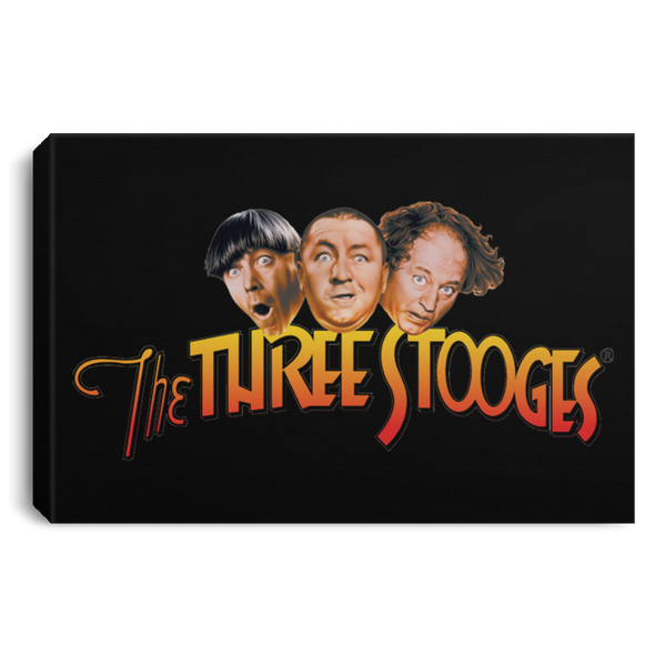 Three Stooges Logo Landscape Canvas .75In Frame
