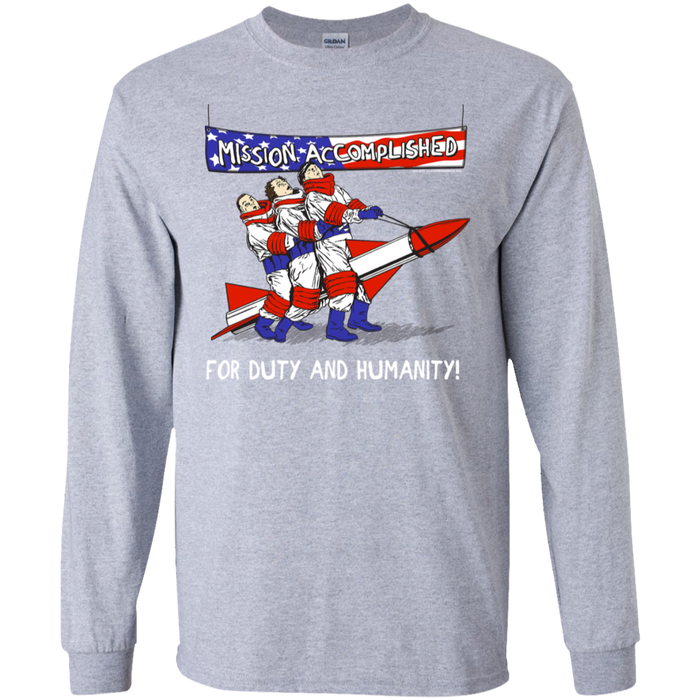 Three Stooges Mission Accomplished Long Sleeve T-Shirt