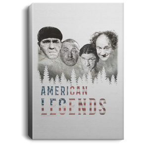 Three Stooges American Legends Portrait Canvas .75In Frame