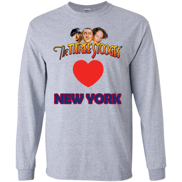 Three Stooges Love New York Long Sleeve Heart Shirt