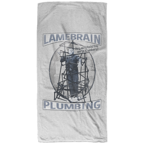 Three Stooges Lamebrain Plumbing Bath Towel - 32x64