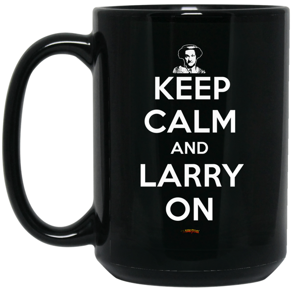 Three Stooges Keep Calm And Larry On Large Mug