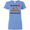 Three Stooges Love New England Ladies T-Shirt.
