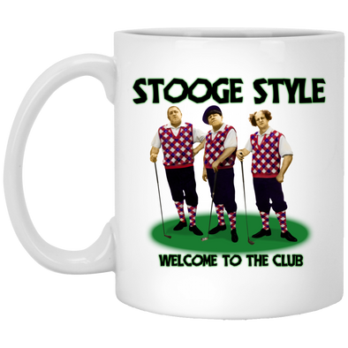 Three Stooges Golf Style Mug - FREE SHIPPING