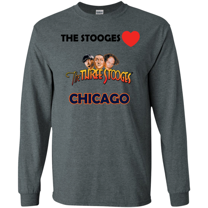 Three Stooges Love Chicago Long Sleeve Shirt