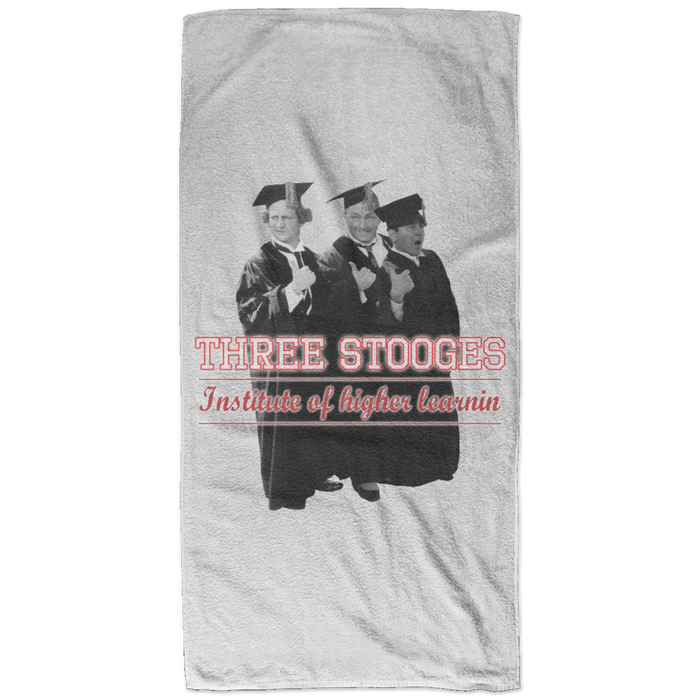 Three Stooges Graduates Bath Towel - 32X64