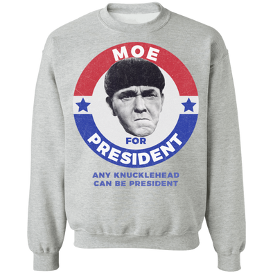 Three Stooges Moe For President Sweatshirt