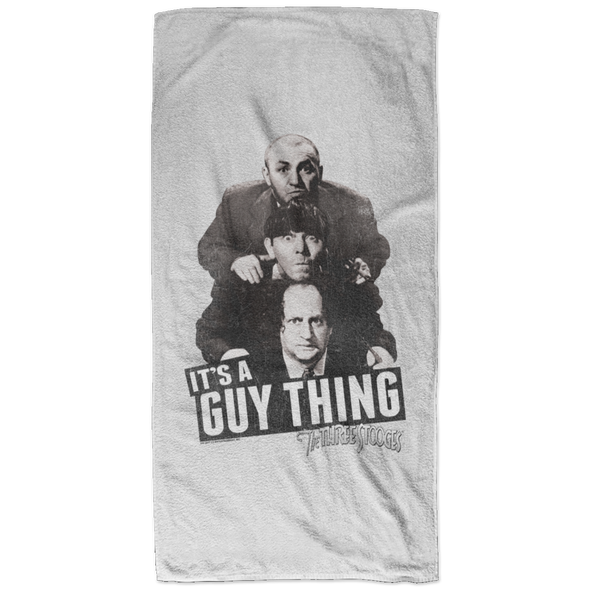 Three Stooges It'S A Guy Thing Bath Towel - 32X64