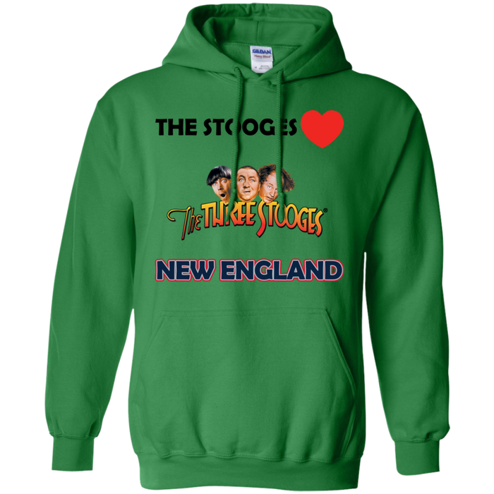 Three Stooges Love New England Hoodie