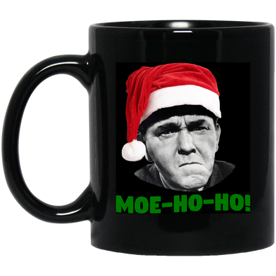 Three Stooges 11 oz. Black Mug - Moe HO HO