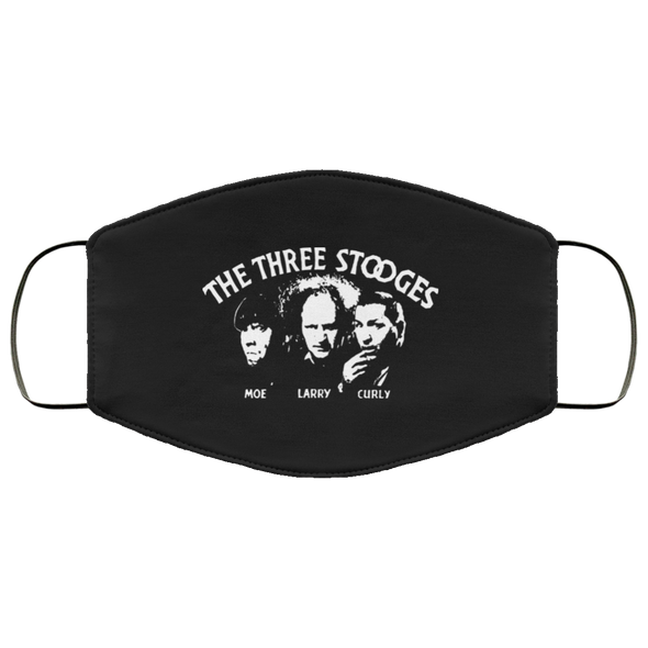 Three Stooges Classic Credits Face Mask