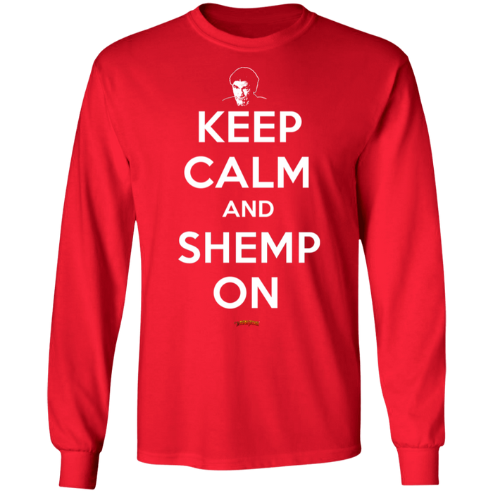 Three Stooges Keep Calm And Shemp On Long Sleeve T-Shirt