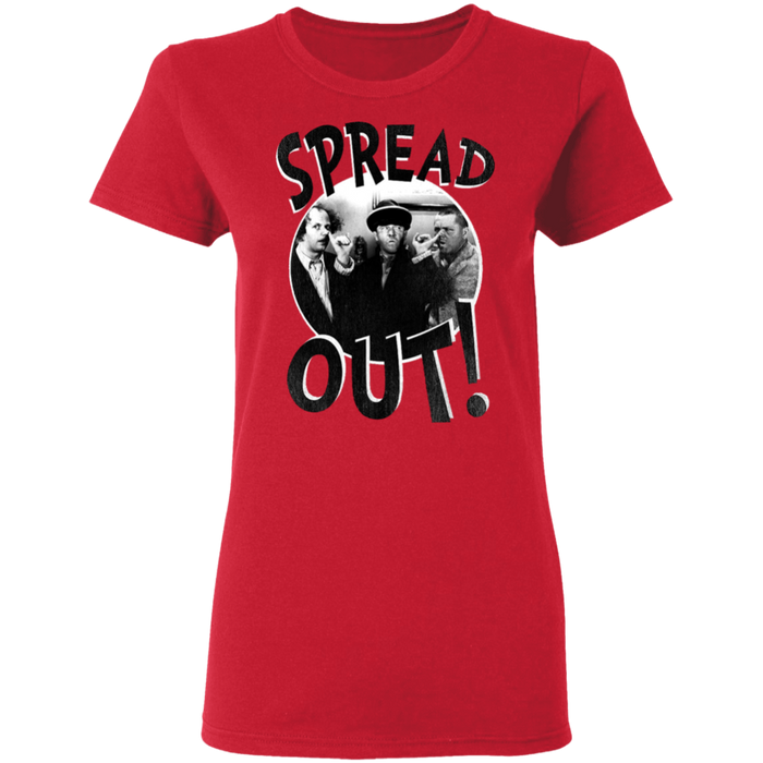 Three Stooges Spread Out Ladies T-Shirt