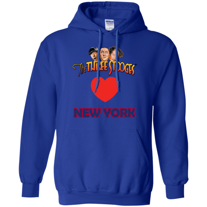 Three Stooges Love New York Heart Hoodie